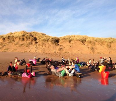 #RebelLife beach training at Balmedie beach