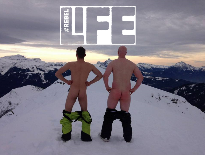 The #RebelLife ski trip from last year in Morzine. What a cracking view.