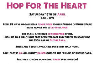 hop for the heart charity event