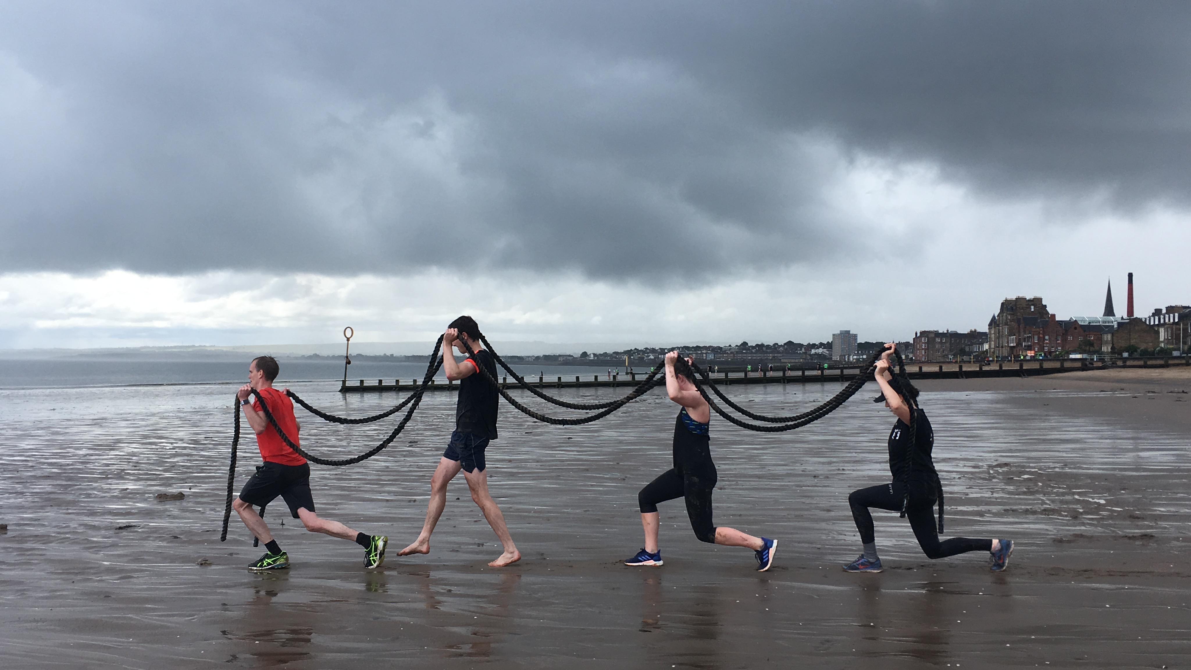 Portobello Beach training in Edinburgh