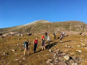 climbing the first peak