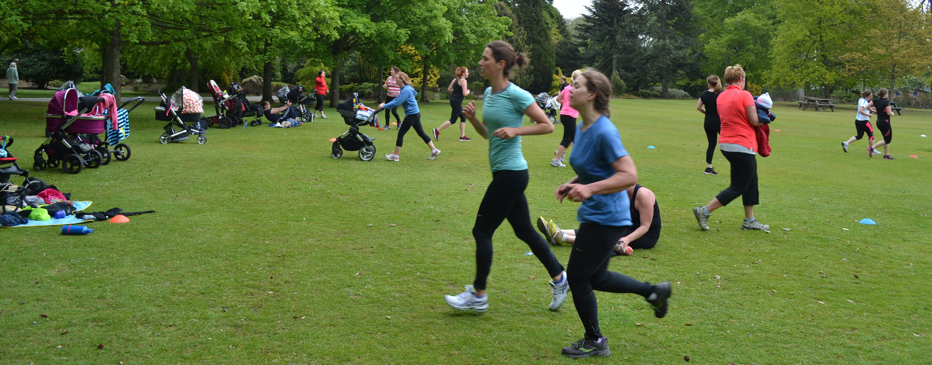 Prams in the Park The most effective way to get up and get out after having your baby! This hour-long class is a postnatal programme designed to be fun and interactive, whatever fitness stage you are at, using your own bodyweight and keeping your baby alongside you in its pram.