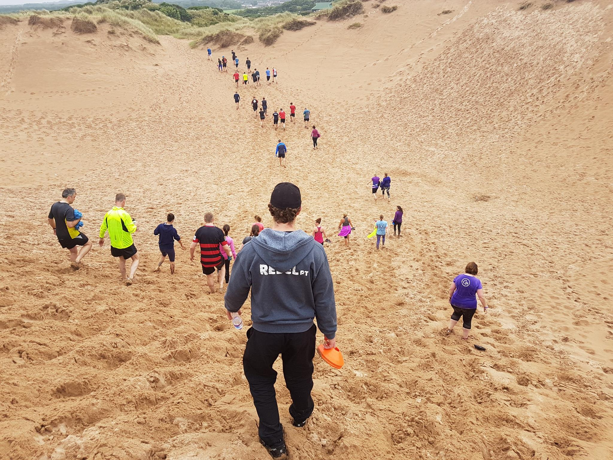 beach training at balmedie, Aberdeen rebel pt